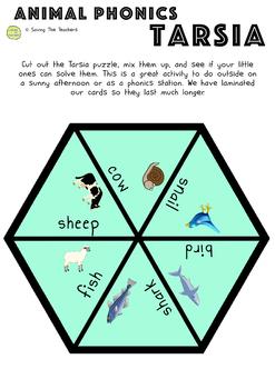 Tarsia Puzzle Activity: Animal Phonics - Early Readers