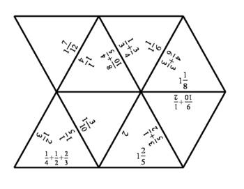 Tarsia Puzzle - Adding Fractions Unlike Denominators