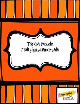 Tarsia Puzzle- Multiplying Binomials