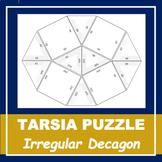 TARSIA PUZZLE TEMPLATE   Irregular Decagon