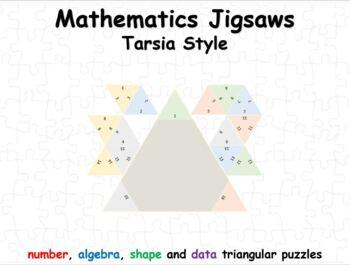 Tarsia Style Mathematics Jigsaws