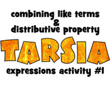 Tarsia activity: EXPRESSIONS #1: combining like terms & di
