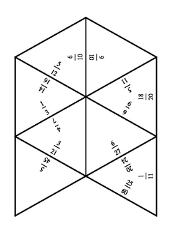 Tarsia for equivalent fractions