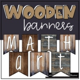 Wooden Alphabet Banners for Bulletin Board Displays