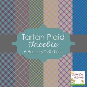 Tartan Plaid Digital Paper FREEBIE