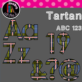 Tartan Plaid Uppercase and lowercase letters, and punctuation
