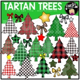 Tartan Trees Clip Art Set {Educlips Clipart}