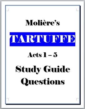 Tartuffe study guide questions