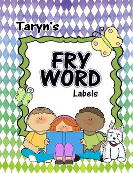 Fry Word Labels