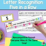 Letter Identification- Five in a Row Game