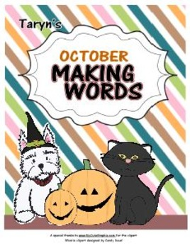 Making Words For October