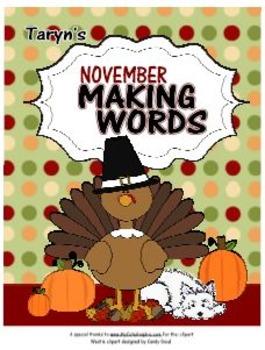 Making Words for November
