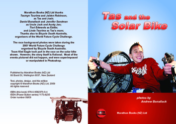 Tas and the Solar Bike – Easy-reading adventure for reluctant-reader boys