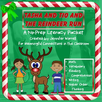 Tasha and Tio and the Reindeer Run: No-Prep Literacy Packet
