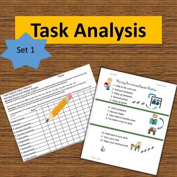 Task Analysis-Set 1--Data Collection, Visual Instruction, Progress Reports