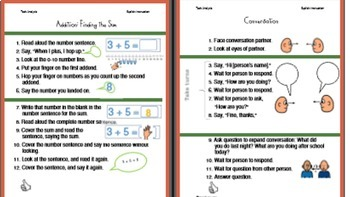 Task Analysis BUNDLE: 15 Routines from ALL  3 Sets, Visuals, Data Collection