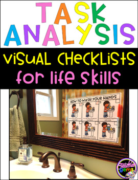 Task Analysis Cards with Visual Checklists for Life Skills