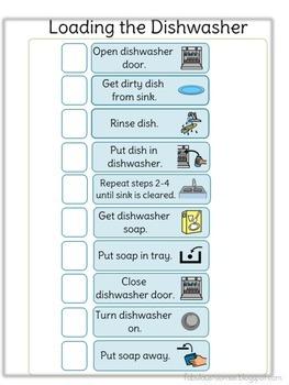Task Analysis: Discrete Steps for Classroom Jobs / Living Skills