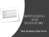 Task Analysis- Restocking and Taking Inventory
