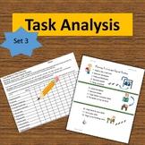 Task Analysis Set 3--Data Collection, Visuals, Progress Reports