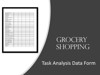 Task Analysis Shopping in Community