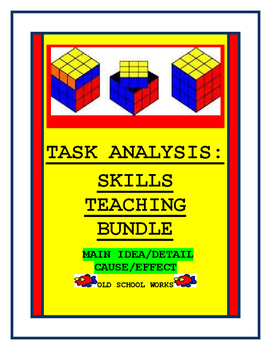 Comprehension  Skills Teaching Bundle  Main Idea/Detail plus Cause/Effect