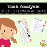 Task Analysis: Steps to Common Activities in the Autism Classroom