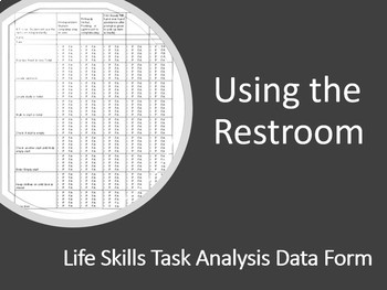 Task Analysis- Using the Restroom (Classroom or Public)