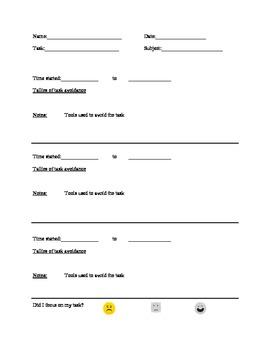 Task Avoidance Tally Sheet