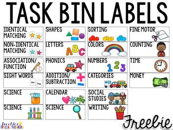 Task Bin Labels Freebie