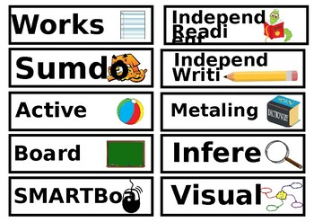 Task Board - Reading, Writing and Numeracy