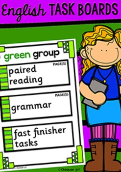 Task Boards - English {for UK Teachers}