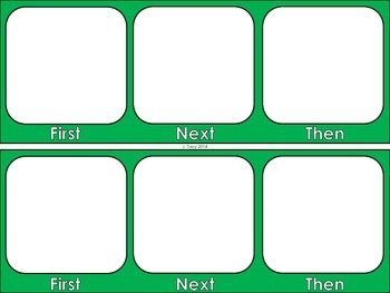 EDITABLE Task Boards & First Then Boards