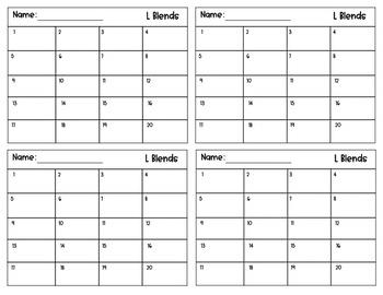 Task Box Cards- L Blends