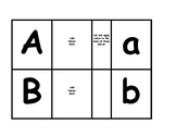 Task Box Cards matching upper to lower case ABC