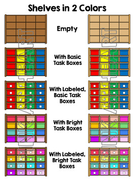 Task Boxes Clip Art