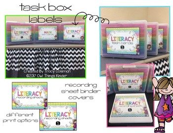 Task Box Storage Case Labels and Binder Covers