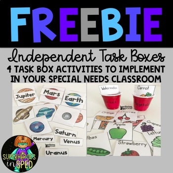 Task Box Freebie! For Special Education and Life Skills Classrooms