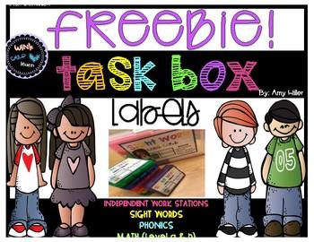 Task Box Label FREEBIE