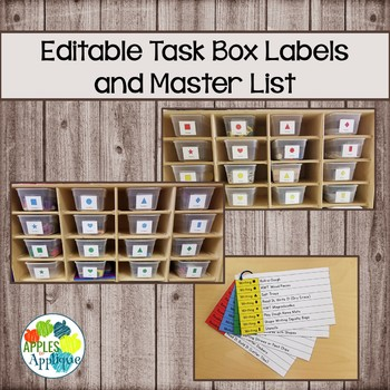 Task Box Labels and Master List FREEBIE
