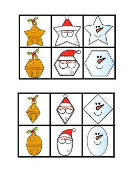 Task Card Matching - Christmas Holiday Pack