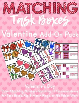 Task Card Matching - Valentine's Day Pack