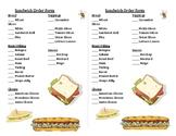 Task Box: Sandwich Order Forms