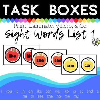Task Box: Sight Words List 1