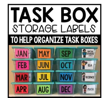 Task Box Storage Labels