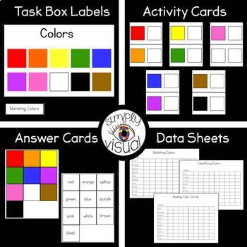Task Box for Basic Skills--Colors