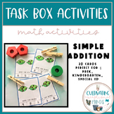 Back to School | Home Learning Packet |Simple Addition Task Boxes