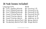 Task Boxes for Unique Learning May Unit 24 We Look Alike