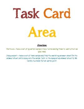 Task Card Area Sign