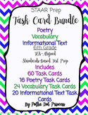 Task Card BUNDLE #2 (Poetry, Vocabulary, & Informational Text) - STAAR Test Prep